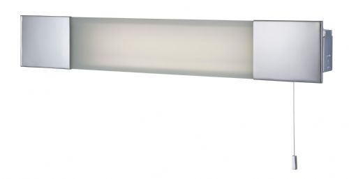 Firstlight 8236CH Chrome with Frosted Glass Over Mirror Light & Shaver Socket